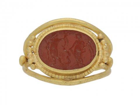 ancient roman gold intaglio ring hatton garden berganza