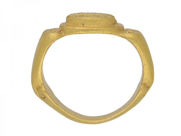 front ancient roman gold ring hatton garden berganza