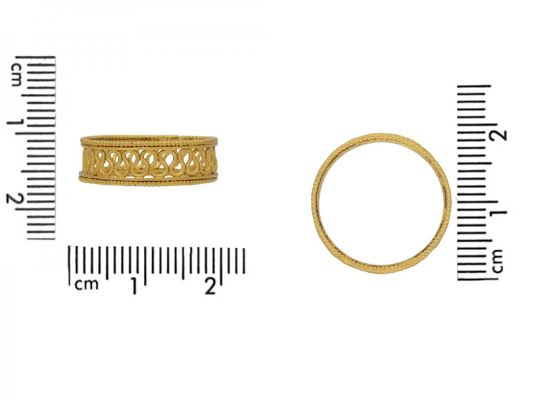 ancient gold wire work ring berganza hatton garden
