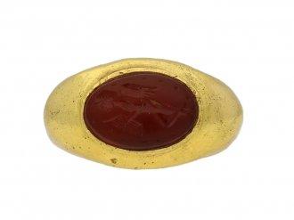 Ancient Roman Putto intaglio ring hatton garden berganza