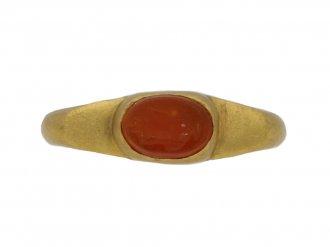 ancient roman intaglio gold ring hatton garden berganza