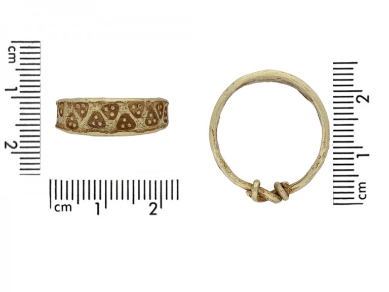 front Viking yellow gold stamped ring hatton garden berganza