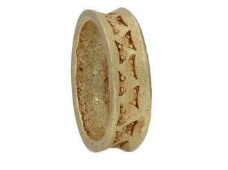 Viking yellow gold stamped  ring hatton garden berganza