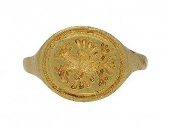 Medieval signet eagle ring hatton garden berganza