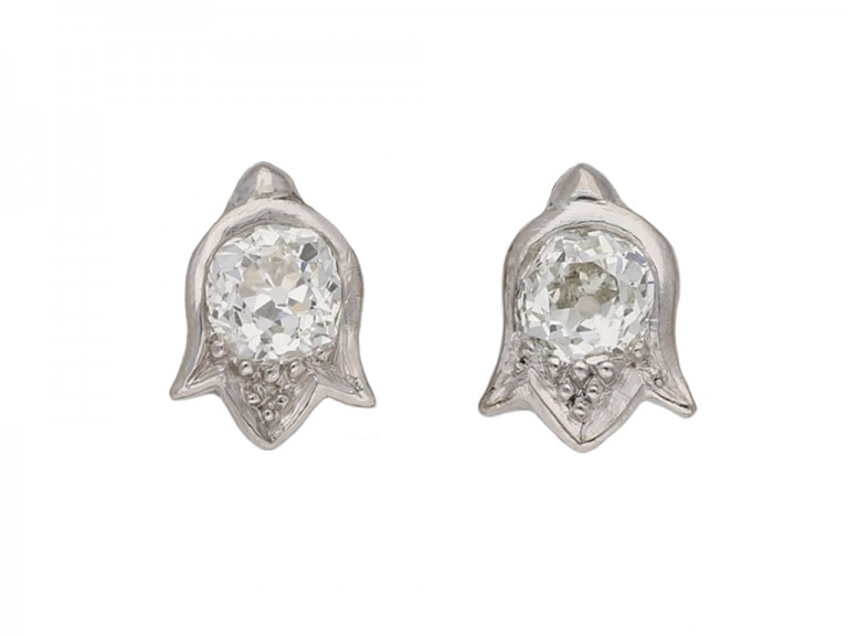 Art Deco diamond earrings hatton garden berganza