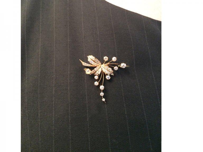 antique diamond gold brooch hatton garden berganza