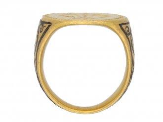 front ancient gold fleur de lis ring hatton garden berganza