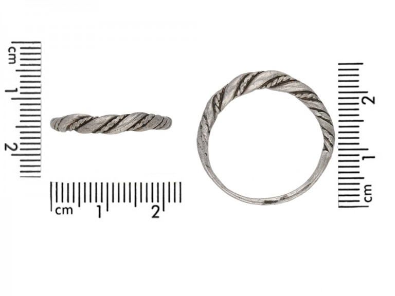 front Viking silver twist ring berganza hatton garden