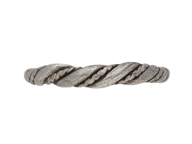 Viking silver twist ring berganza hatton garden