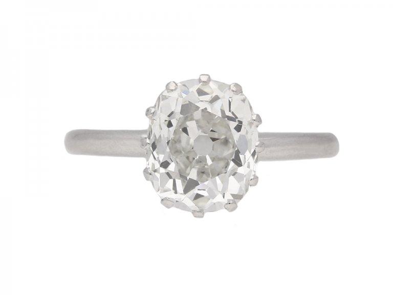 antique diamond engagement ring berganza hatton garden