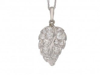 vintage diamond set leaf pendant hatton garden berganza