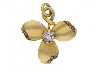 antique clover diamond gold locket berganza hatton garden