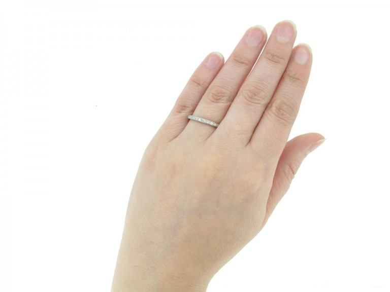 front antique diamond eternity ring hatton garden berganza