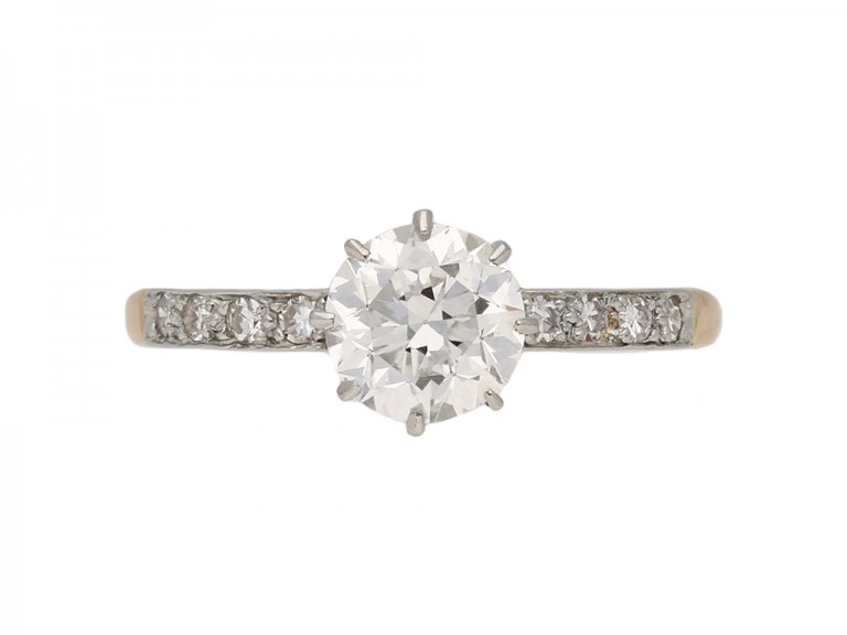 antique diamond egagement ring hatton garden berganza