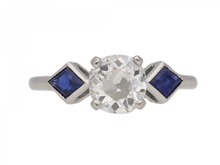 vintage diamond sapphire ring hatton garden berganza