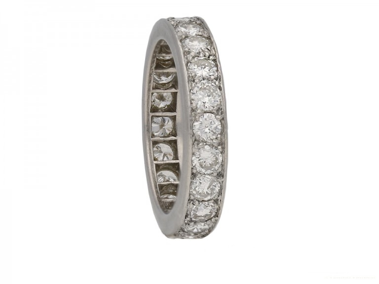 front vintage Cartier diamond eternity ring hatton garden berganza