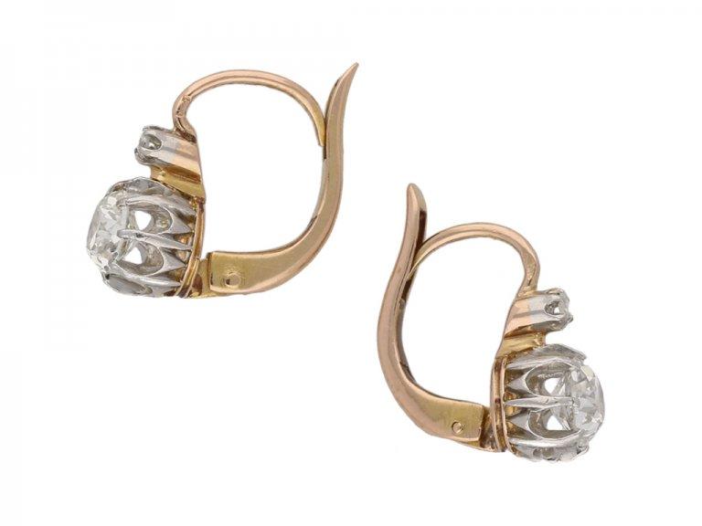 antique diamond earrings hatton garden berganza