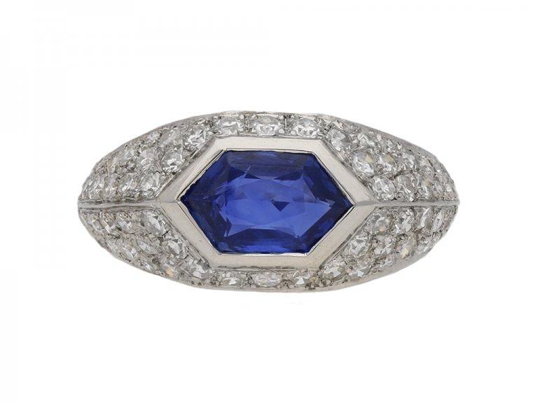 vintage sapphire diamond ring berganza hatton garden
