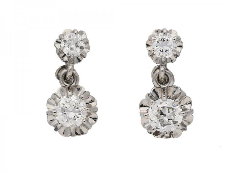vintage diamond earrings hatton garden berganza