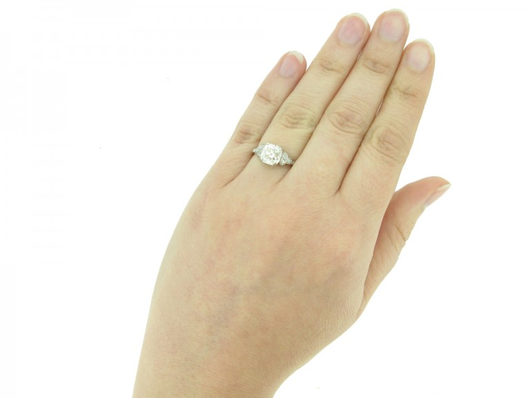 front vintage diamond engagement ring berganza hatton garden