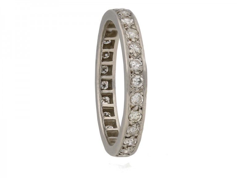 front antique diamond eternity ring berganza hatton garden