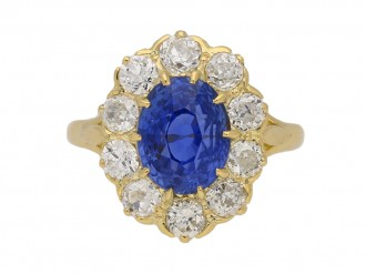 antique diamond sapphire ring berganza hatton garden