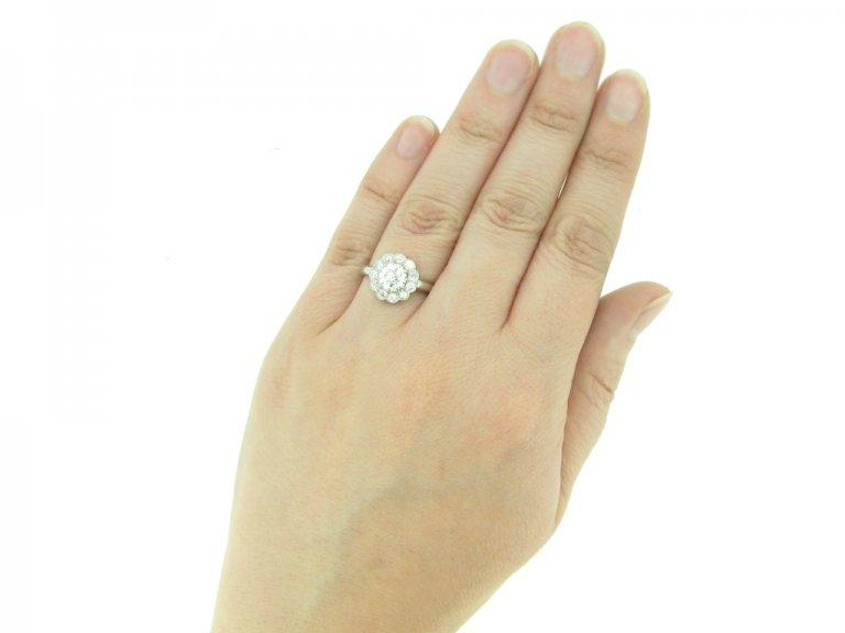 front antique cluster diamond ring hatton garden berganza