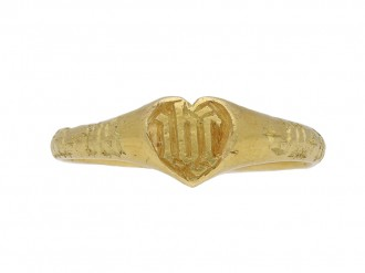 Medieval iconographic gold ring berganza hatton garden