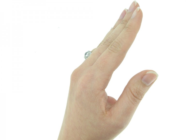 Tiffany Art Deco sapphire diamond ring berganza hatton garden