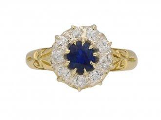 antique diamond sapphire cluster ring hatton garden berganza