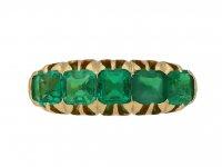 antique emerald ring berganza hatton garden