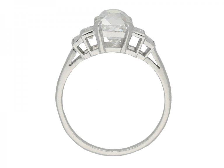 front art deco diamond engagement berganza hatton garden