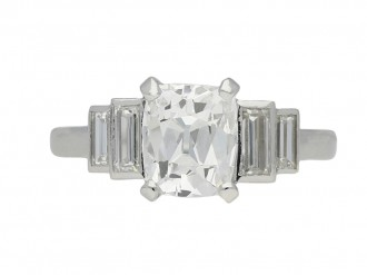 art deco diamond engagement berganza hatton garden