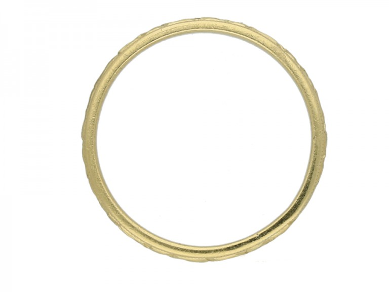ntique engraved gold wedding band berganza hatton garden