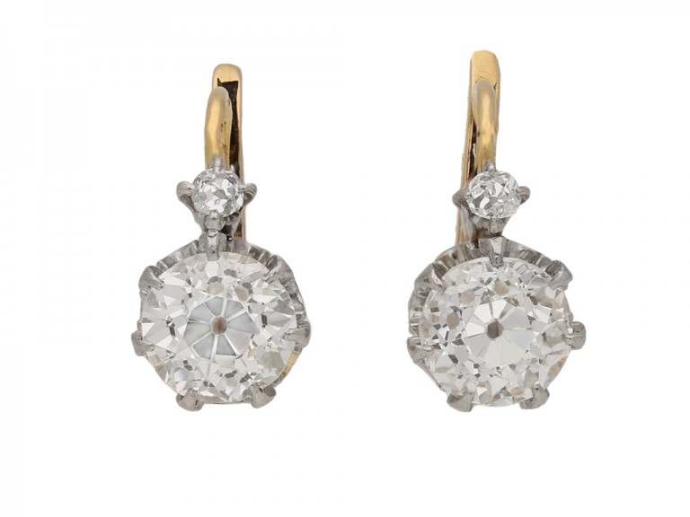 antique diamond drop earrings hatton garden berganza
