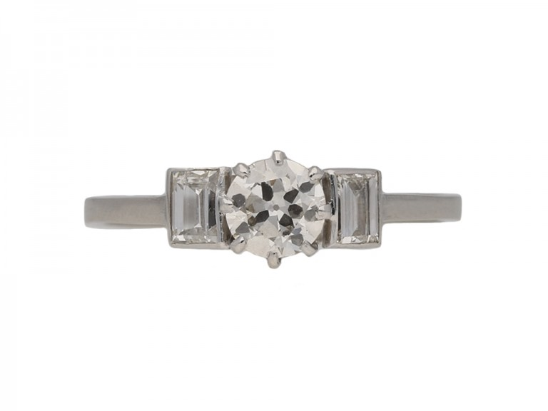 art deco diamond engagement ring hatton garden berganza
