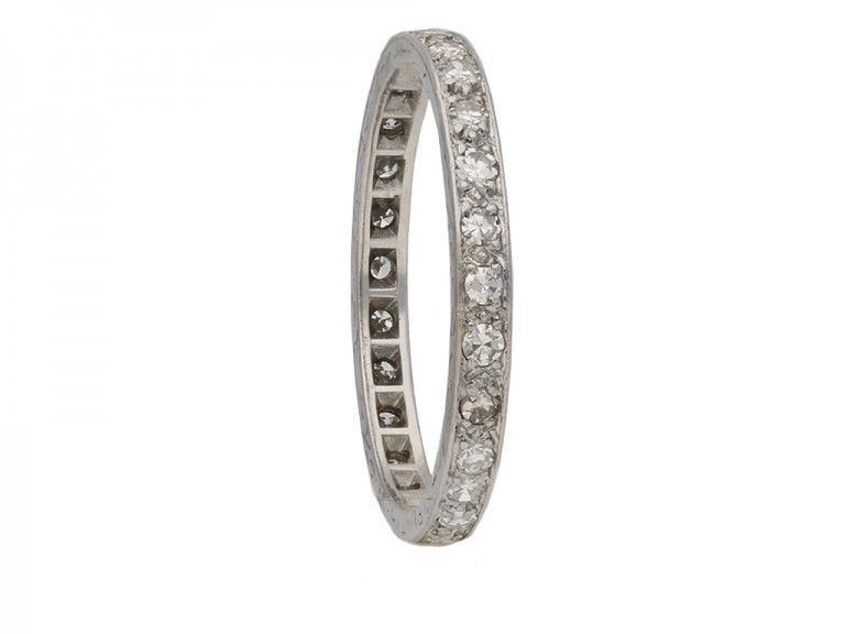 front art deco diamond eternity ring hatton garden berganza