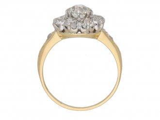 back antique diamond cluster ring berganza hatton garden