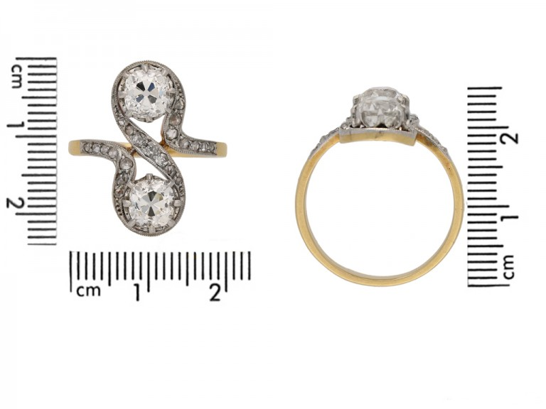front Belle Époque diamond ring berganza hatton garden