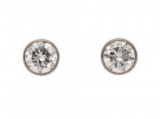vintage diamond gold stud earrings berganza hatton garden
