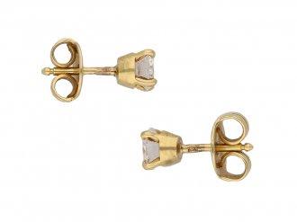 Vintage Cartier diamond stud earrings berganza hatton garden