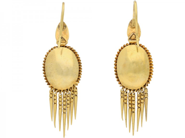 antique diamond garnet earrings berganza hatton garden