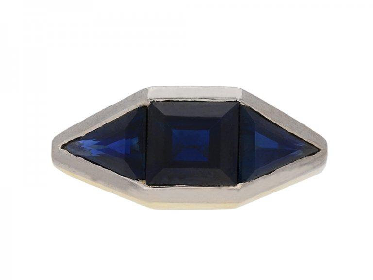 art deco sapphire ring berganza hatton garden
