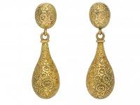 antique yellow gold earrings berganza hatton garden