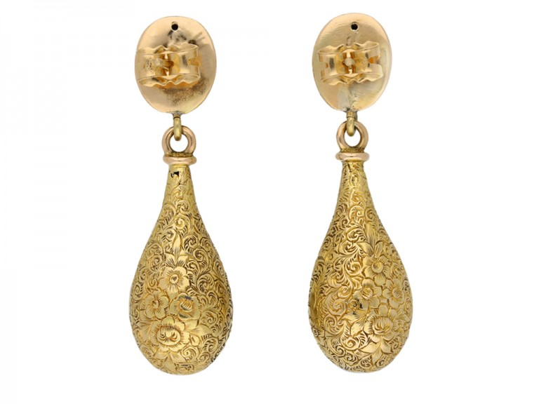 antique yellow gold earrings berganza hatton garden