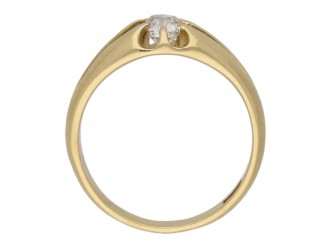 front antique gold diamond ring berganza hatton garden