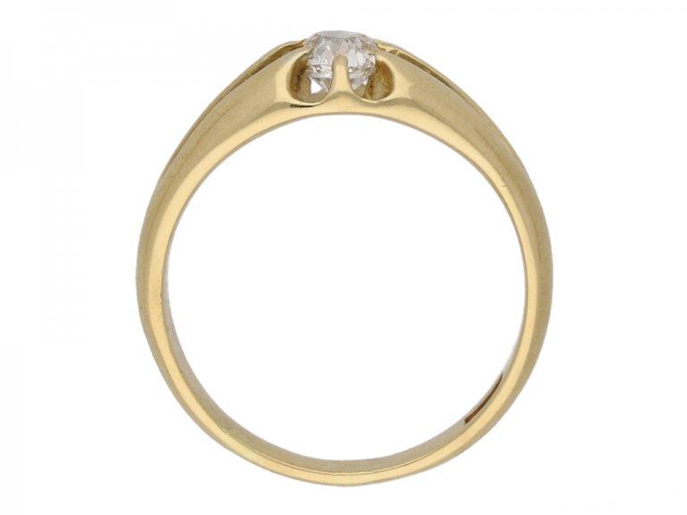 front antique gold diamond ring berganza hatton garden