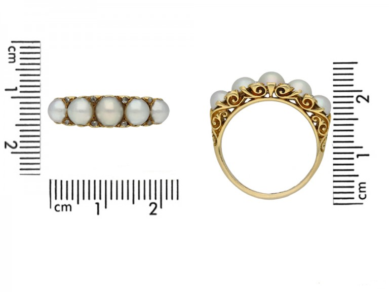front antique pearl diamond carved ring berganza hatton garden