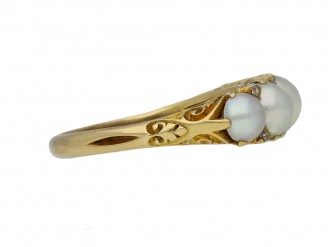 antique pearl diamond carved ring berganza hatton garden