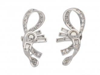 vintage diamond cluster earrings berganza hatton garden